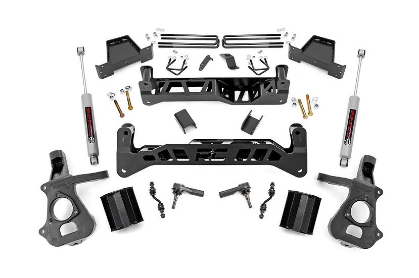 7in GM Suspension Lift Kit w/N3 (14-18 1500 PU 2WD | Aluminum/Stamped Steel)