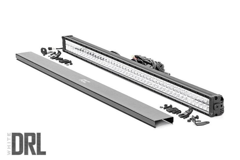 50-inch Cree LED Light Bar - (Dual Row | Chrome Series w/ Cool White DRL)