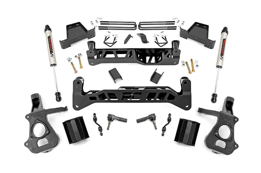 7.5in GM Suspension Lift Kit w/ V2 (14-18 1500 PU 2WD | Cast Steel)
