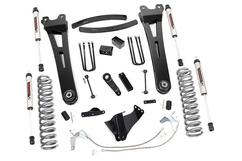 6in Ford Suspension Lift Kit | Radius Arms w/ V2 Shocks (08-10 F-250/350 4WD)