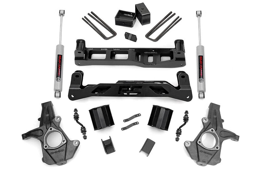 5in GM Suspension Lift Kit w/N2.0 (14-18 1500 PU 2WD | Aluminum/Stamped Steel)