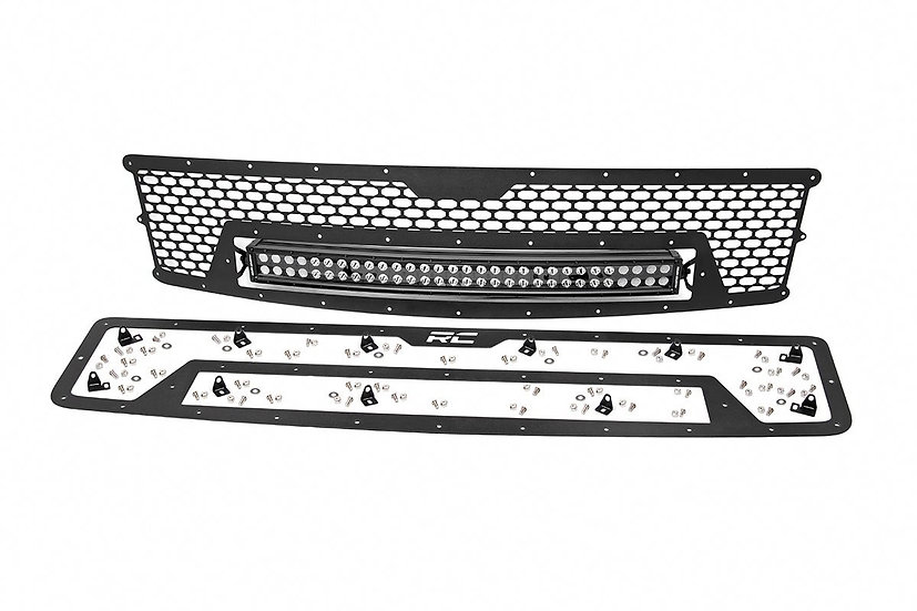 Chevrolet Mesh Grille w/30in Dual Row Black Series LED (07-13 Silverado 1500)