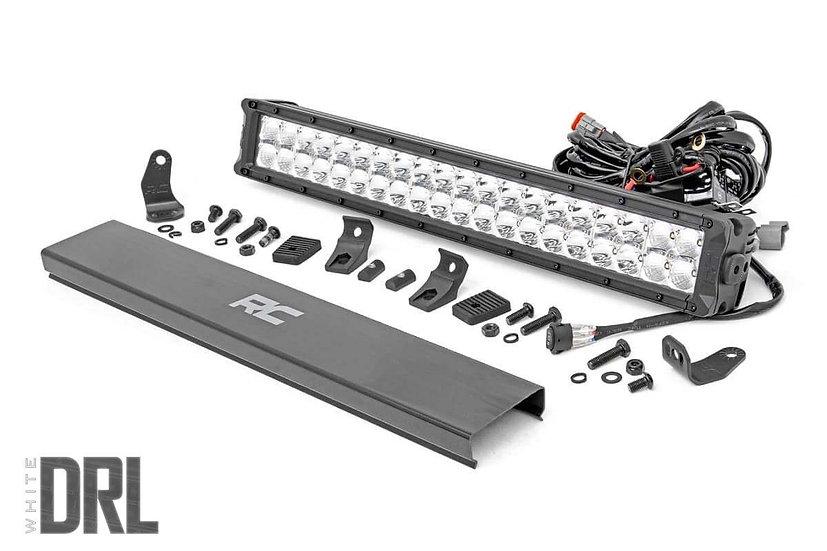 20-inch Cree LED Light Bar - (Dual Row | Chrome Series w/ Cool White DRL)
