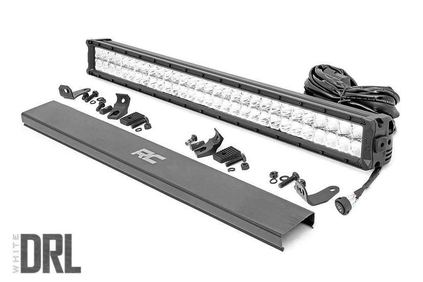 30-inch Cree LED Light Bar - (Dual Row | Chrome Series w/ Cool White DRL)