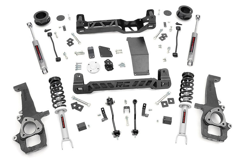 4in Ram Suspension Lift Kit | N3 Struts and N3 Shocks (12-18 1500 4WD)