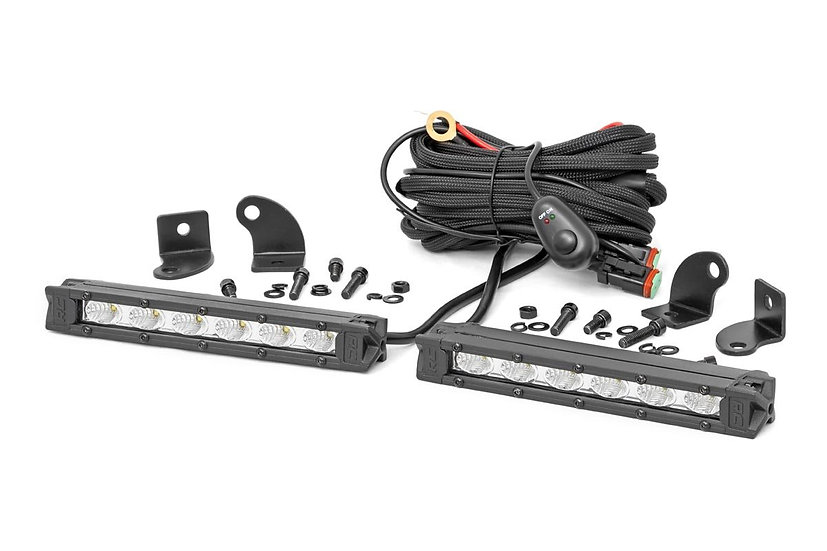 6-inch Slimline Cree LED Light Bars (Pair | Chrome Series)