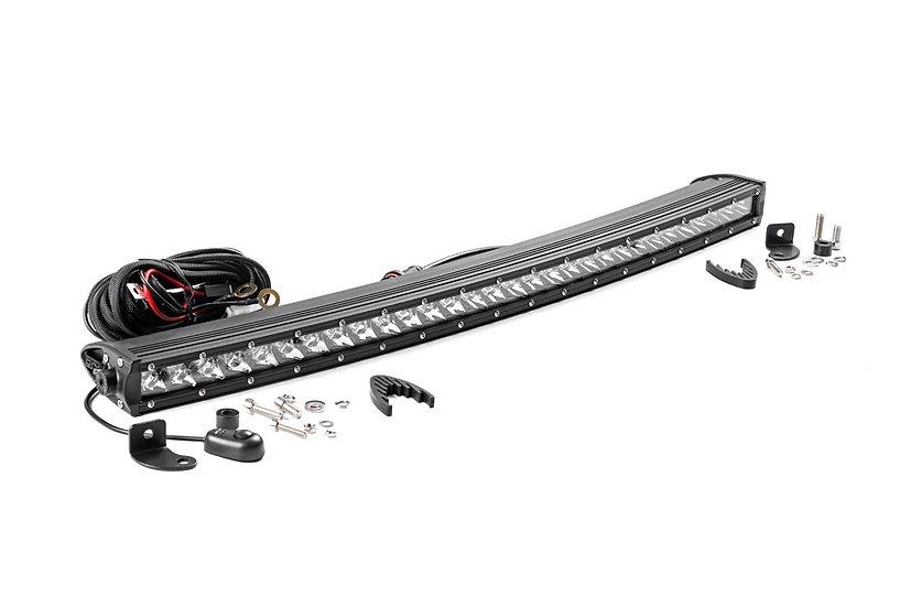 30-inch Curved Cree LED Light Bar - (Single Row | Chrome Series)