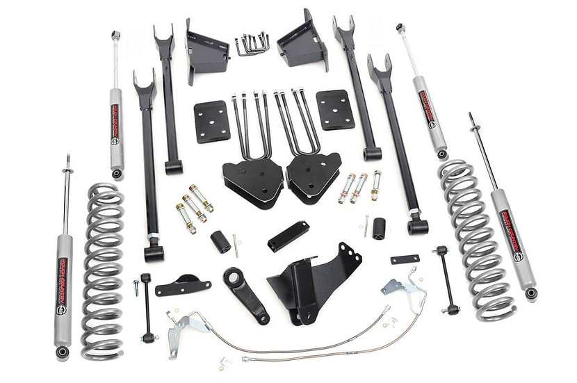 8in Ford Suspension Lift Kit | 4-Link w/N3 Shocks (08-10 F-250/350 4WD)