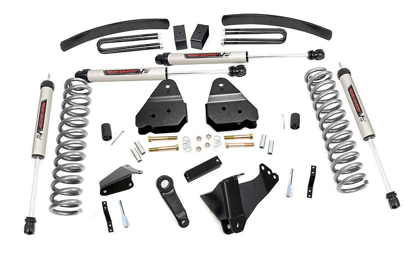 6in Ford Suspension Lift Kit (05-07 F-250 4WD)-Gas-V2 Monotube