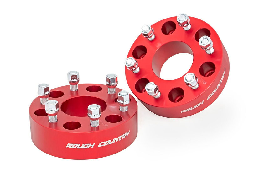 2-inch GM Wheel Spacers (Pair, Red)