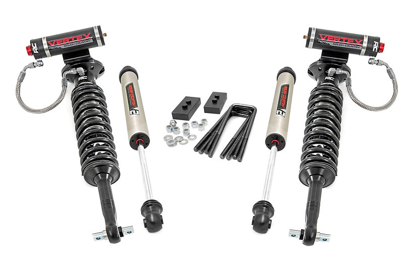 2in Ford Leveling Lift Kit w/Vertex and V2 Shocks (2021 F-150)