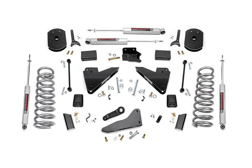 5in Ram Suspension Lift Kit | Coil Springs | Radius Drops (14-18 2500 4WD | Gas)