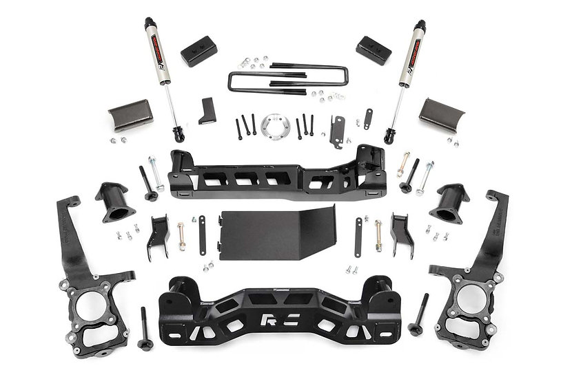 4in Ford Suspension Lift Kit   Strut Spacers w/ V2 Shocks (09-10 F-150 4wd)