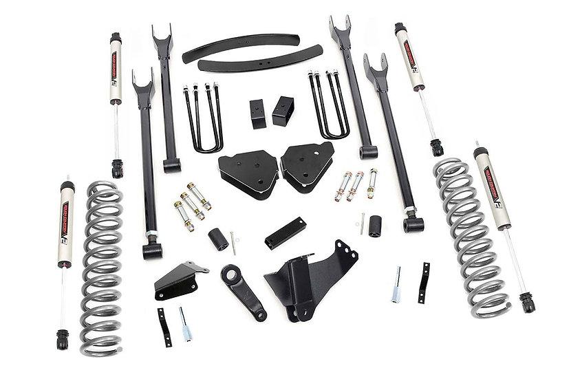 6in Ford 4-Link Suspension Lift Kit w/ V2 Shocks (05-07 F-250/350)