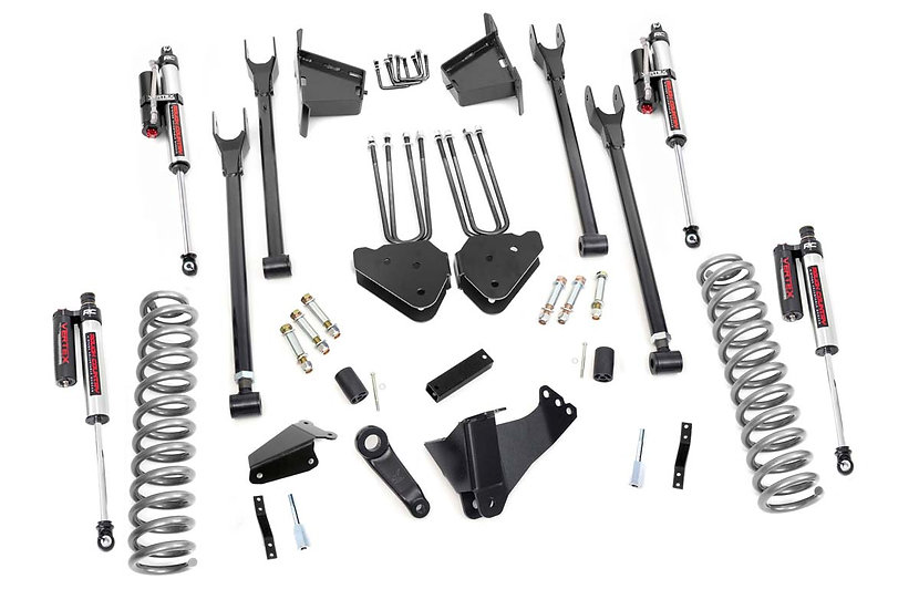 8in Ford Suspension Lift Kit | 4-Link w/ Vertex Shocks (08-10 F-250/350 4WD)