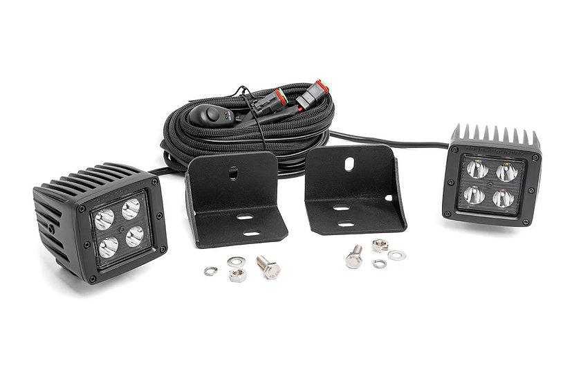 Can-Am Defender Rear Facing 2-inch Black-Series LED Kit (16-20 Defender)