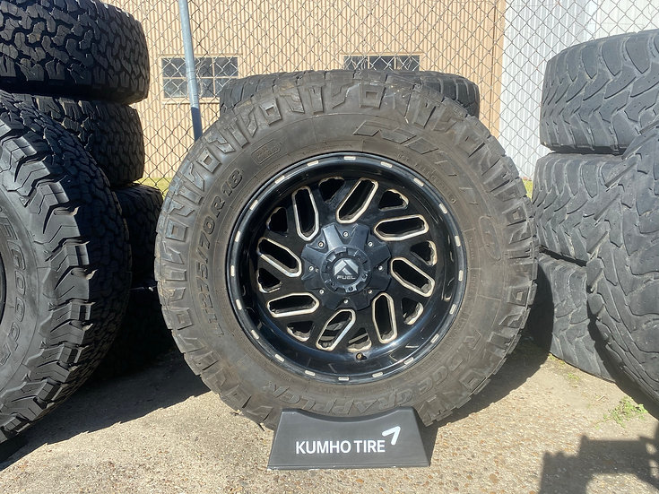 """18"""" Fuel Triton Wheel & Tire Package Chevy 1500"""