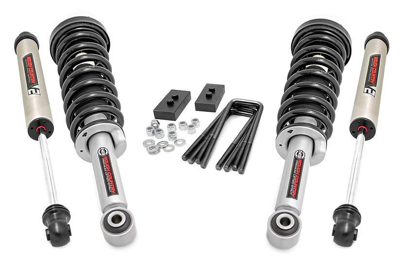2in Ford Leveling Lift Kit   Lifted Struts & V2 Shocks (09-13 F-150)