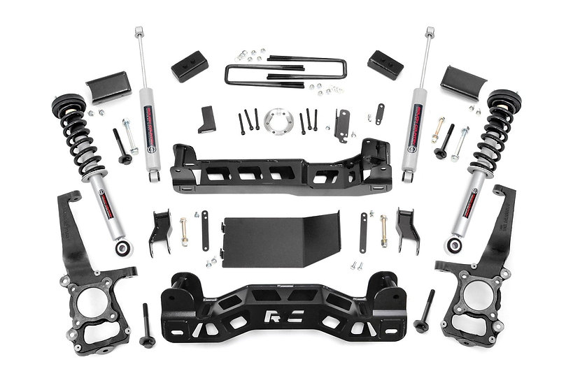 4in Ford Suspension Lift Kit   Lifted N3 Struts (2014 F-150 4WD)