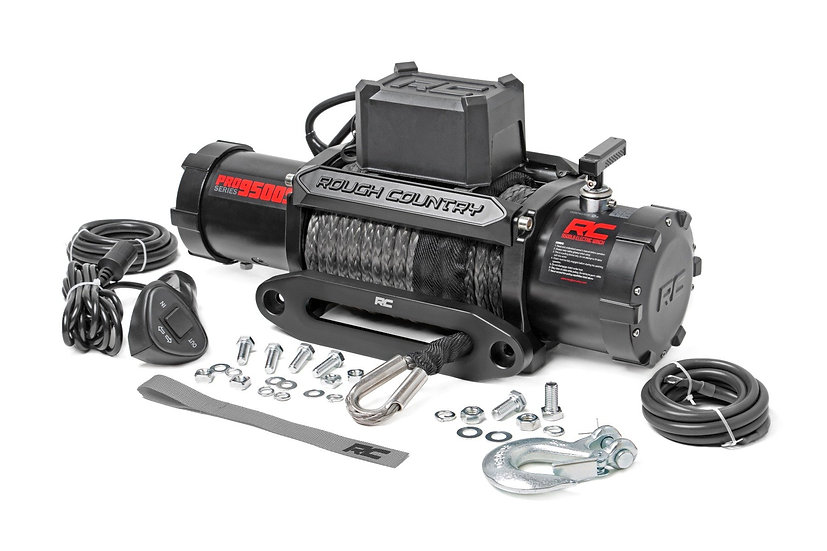 9500lb Pro Series Electric Winch | Synthetic Rope