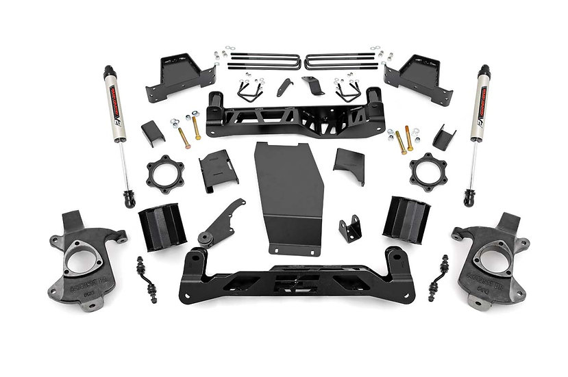 6in GM Suspension Lift Kit w/V2 Monotube (14-17 1500 PU 4WD | Cast Steel)