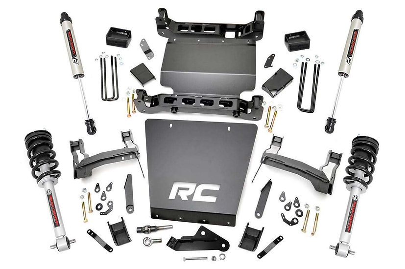7in GM Suspension Lift | Bracket Kit w/Struts & V2 Shocks (14-18 1500 PU 4WD)