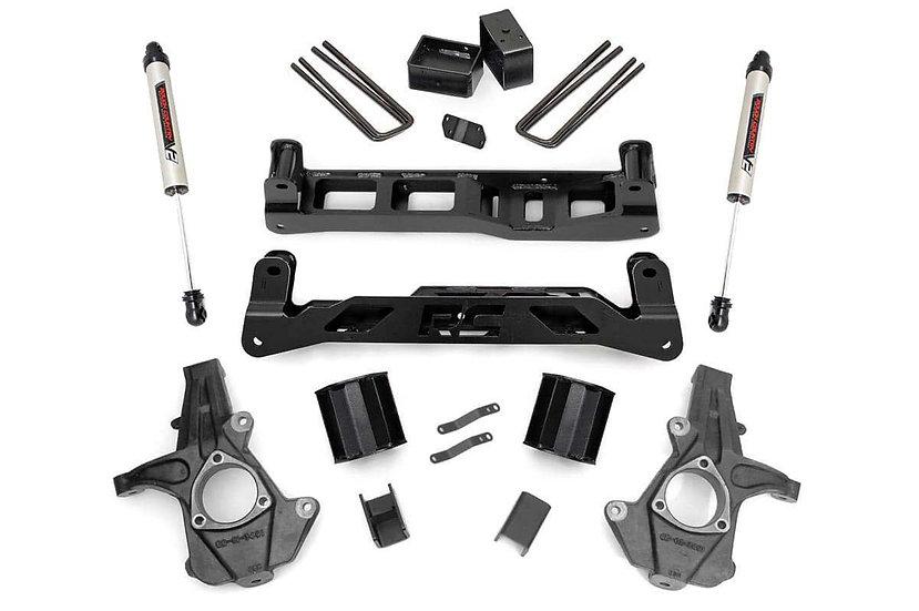 5in GM Suspension Lift Kit w/ V2 Shocks (14-17 1500 PU 2WD | Cast Steel)