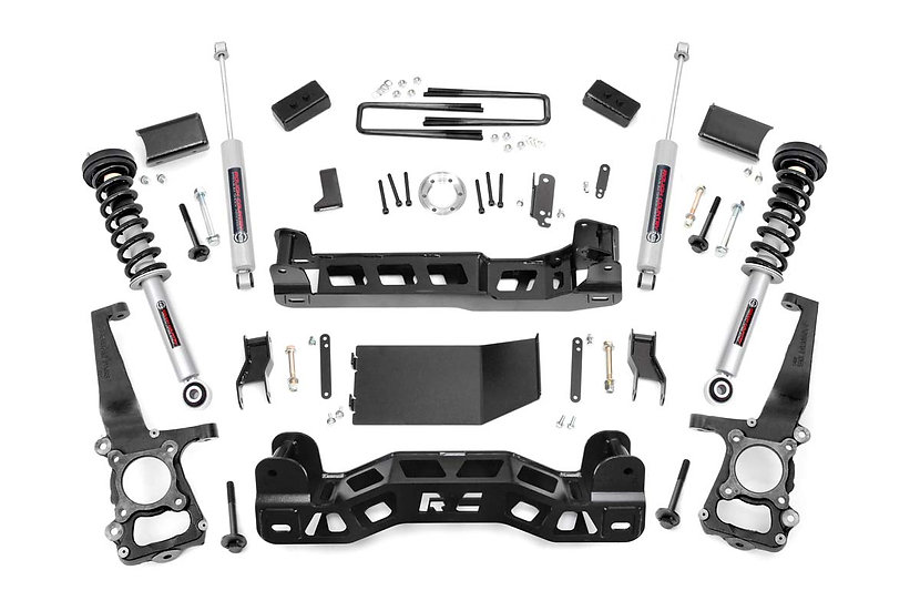 4in Ford Suspension Lift Kit | Lifted N3 Struts (11-13 F-150 4WD)