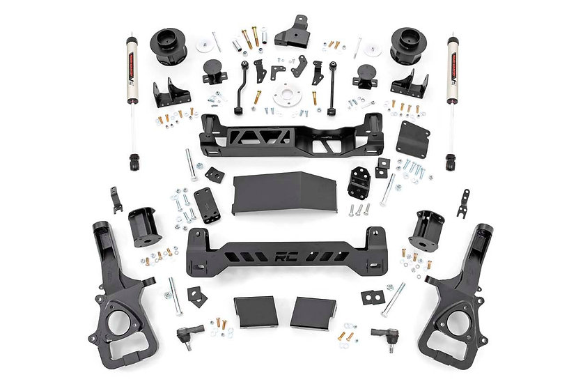 5in Ram Suspension Lift Kit w/ V2 Shocks (19-20 Ram 1500 4WD | Air Ride)