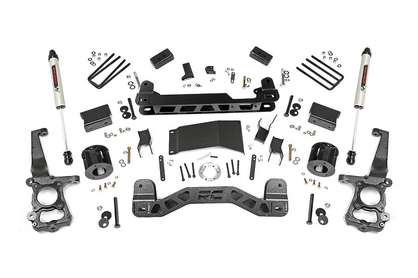 4in Ford Suspension Lift Kit w/ V2 Shocks (15-20 F-150 4WD)