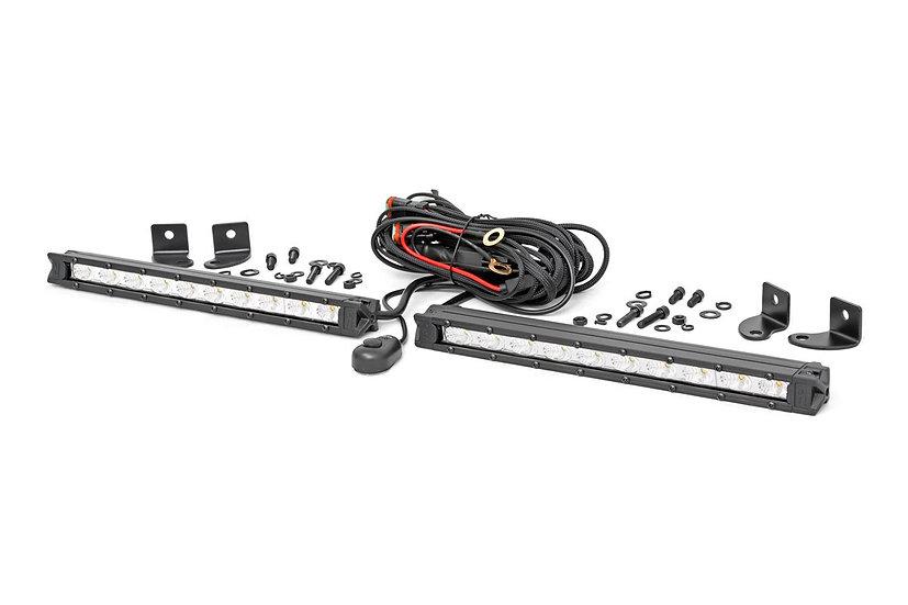 10-Inch Slimline Cree LED Light Bars (Pair | Chrome Series)
