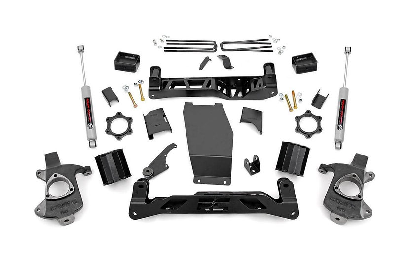 5in GM Suspension Lift Kit w/N3 (14-18 1500 PU 4WD | Cast Steel)