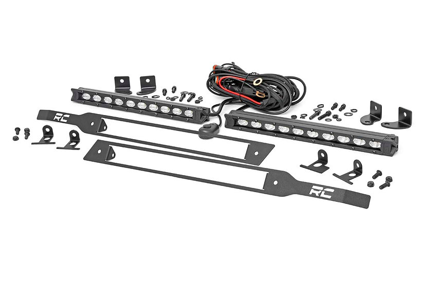 Chevy Dual 10in LED Grille Kit | Black Series (19-21 Silverado 1500)
