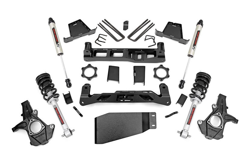 7.5in GM Suspension Lift Kit | Lifted Struts & V2 Shocks (07-13 1500 PU)