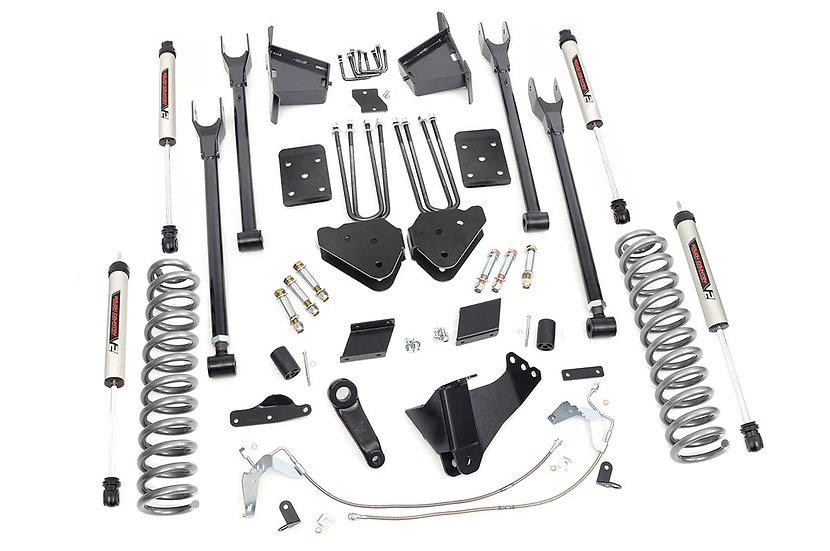 6in Ford Suspension Lift Kit | 4-Link w/V2 Shocks (15-16 F-250 4WD)