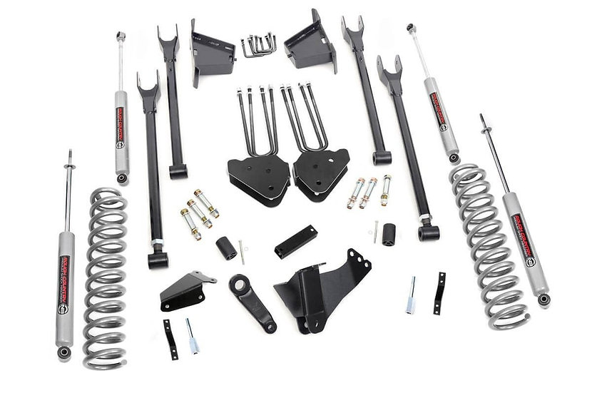 8in Ford 4-Link Suspension Lift Kit w/N3 Shocks (05-07 F-250/350 4WD | Diesel)