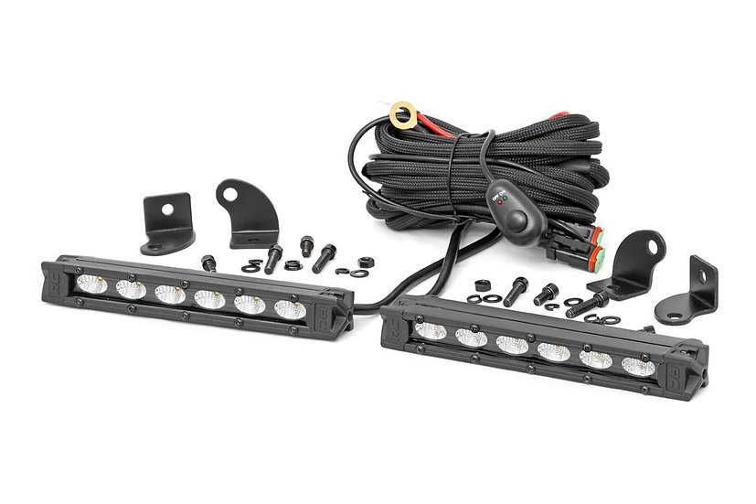 6-inch Slimline Cree LED Light Bars (Pair | Black Series)