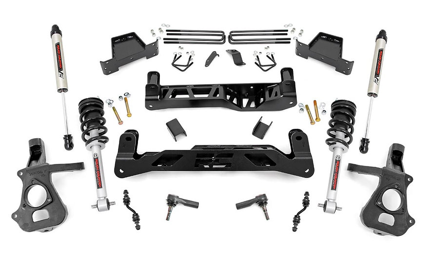 7in GM Suspension Lift Kit | Lifted Struts & V2 (14-18 1500 PU 2WD | CastSteel)
