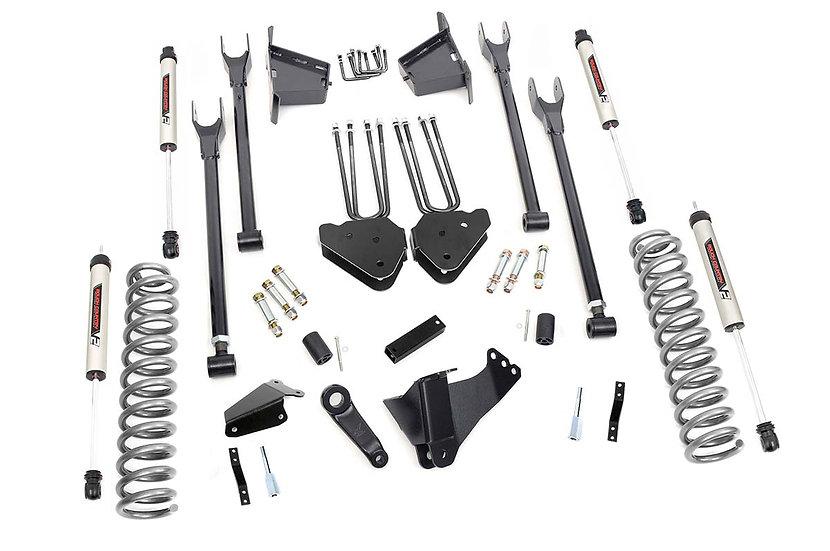8in Ford 4-Link Suspension Lift Kit w/V2 Shocks (05-07 F-250/350 4WD | Diesel)