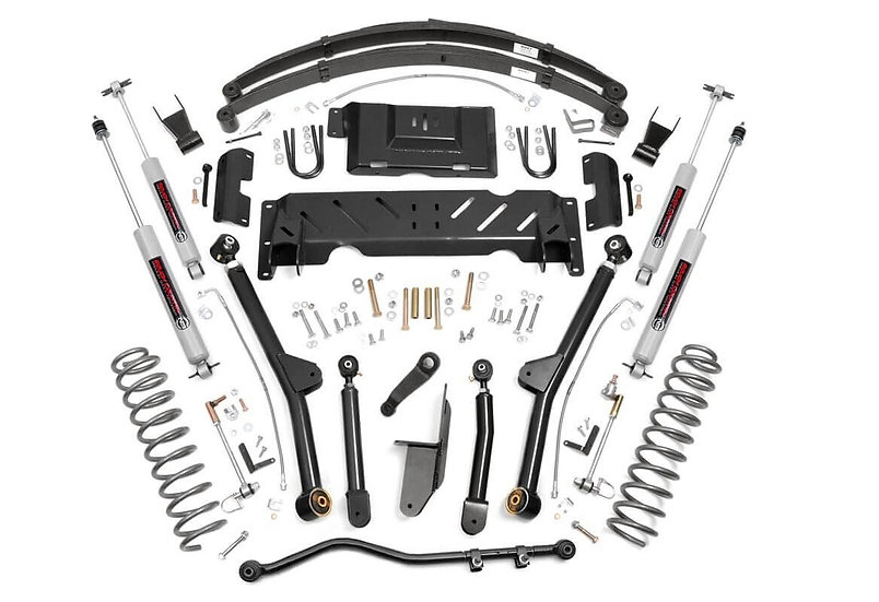 6.5in Jeep Long Arm Suspension Lift System (84-01 XJ Cherokee - 2.5L/4.0L/NP242)
