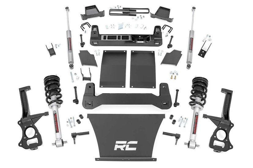 4in GM Suspension Lift Kit | Lifted Struts (19-21 1500 Trailboss / AT4 PU 4WD)