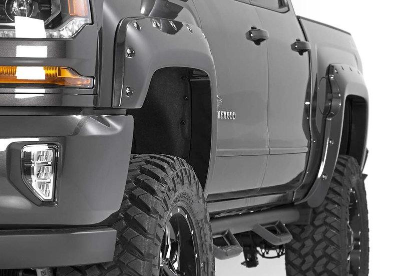 Chevrolet Pocket Fender Flares | Rivets (16-18 Silverado 1500 - 6.5' / 8' Bed)