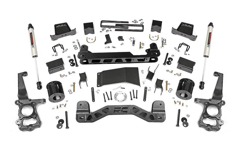 6in Ford Suspension Lift Kit w/ V2 Shocks (15-20 F-150 4WD)