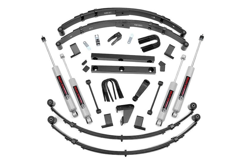 4in Jeep Suspension Lift Kit (Power Steering)