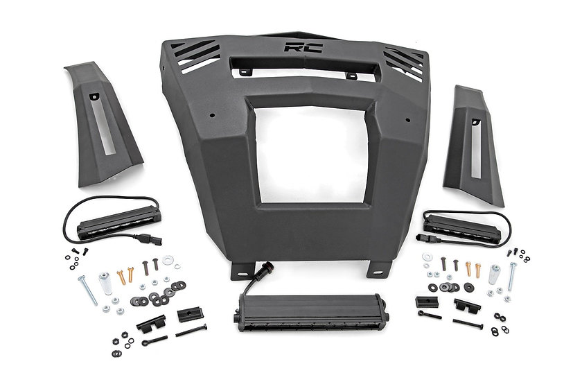 """Can-Am Front Bumper w/ 6"""" and 12"""" LEDs  (16-19 Defender)"""