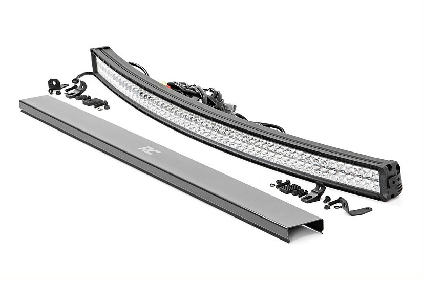 54-inch Curved Cree LED Light Bar - (Dual Row | Chrome Series w/ Cool White DRL)