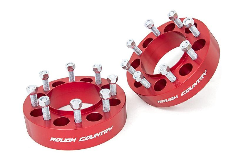 2-inch Wheel Spacers (Pair | Red)