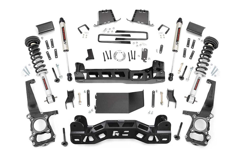 6in Ford Suspension Lift Kit | Lifted Struts & V2 Shocks (2014 F-150 4WD)