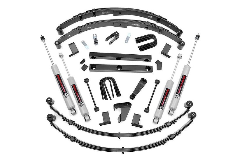4in Jeep Suspension Lift Kit (Manual Steering)