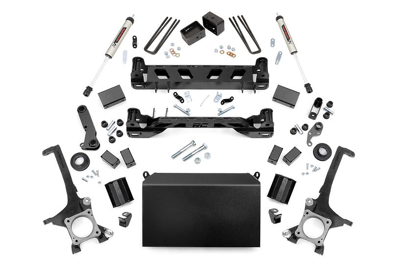 6in Toyota Suspension Lift Kit w/ V2 Shocks (16-20 Tundra 4WD/2WD)